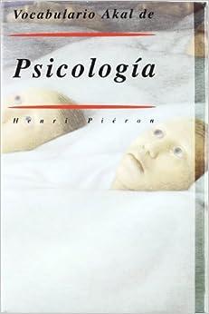 Vocabulario de Psicologia (Diccionarios)