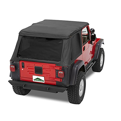 Pavement Ends by Bestop 56840-35 Black Diamond Frameless Sprint Top for 1997-2006 Jeep Wrangler - Install Jeep Soft Top