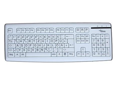 HS-Group Fujitsu Siemens - Teclado de teclas grandes, color blanco: Amazon.es: Electrónica