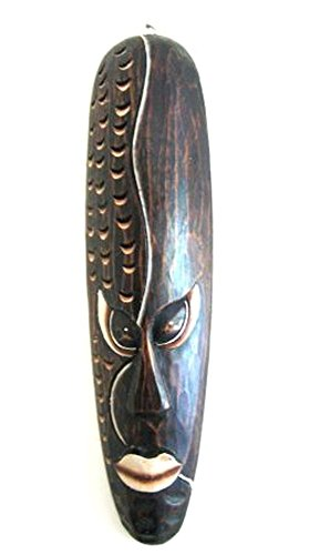 OMA African Mask Good Luck Mask Wooden Wall Hanging Wall Decor, Large 20