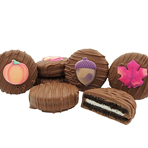 Autumn Cookie (Philadelphia Candies Milk Chocolate Covered OREO Cookies, Autumn Fall Assortment 8 oz)