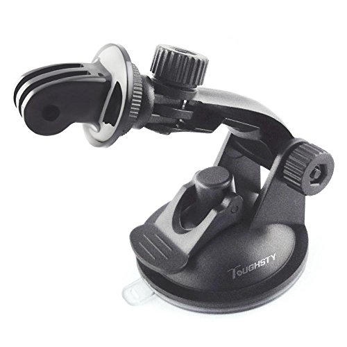Toughsty™ Car Suction Cup Mount with Tripod Adapter for GoPro HD Hero 3+ 3 2 1 Camera