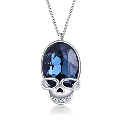 (ZIOZIA Skull Necklaces for Women Cool Pendant Made with Swarovski Crystal Charm Jewelry for Girls Gifts for Women ...)
