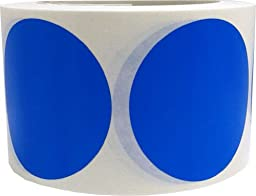 InStockLabels Color Coding Dot Labels 2 Inch 500 Adhesive Stickers, Blue