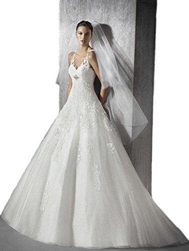 Gogh Ivory Melissa Sweet Lace A-Line Wedding Dress Size US14 by Gogh