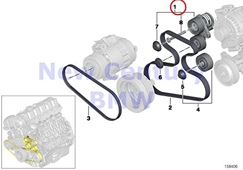 Mechanical Tensioner - BMW Genuine Belt Drive-Generator/Ac/Power Steering Mechanical Belt Tensioner X5 3.0si