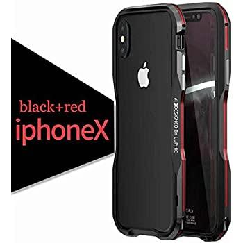 562ac188679 Luphie For Apple iPhone X Case Shockproof Ultra Luxury Aluminum Metal Frame  Armor Irregularly Aluminum Metal