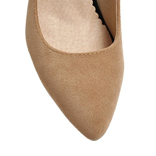 Zapatos Señoras Mujer Sandalette Solo Zapatos de Punta Zapatos Zapatos Alto Retro Zapatos Zapatos de de los Duro Tacon Corbatas Superficial DEDE de yellow Zapatos RR5qF
