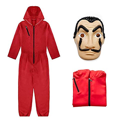 Dali Movie Costume Cosplay Costumes with Mask (S) Red