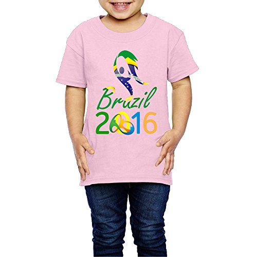 Price comparison product image Kim Lennon 2016 Brazil Torch Relay Short Sleeve Girls Tees Brand New Size 2 Toddler Pink