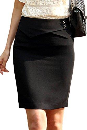 Black Crayon Femmes Jupe Les Genou Mettre Jupe Vemubapis avec Longue Me Doublure RZawUFq