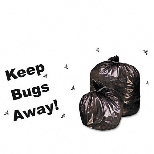 Stout : Insect-Repellent Trash, w/Pest-Guard, 55 gal, 2mil, 37 x 52, Black, 65/Ctn -:- Sold as 2 Packs of - 65 - / - Total of 130 Each