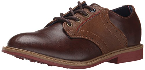 Tommy Hilfiger Kids Michael Saddle Boy Oxford (Little Kid/Big Kid),Brown,5 M US Big Kid