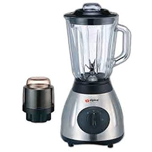 Alpina SF 1012 Electric 220V Stainless Steel Kitchen Countertop Blender  With Grinder Attachment(Not For USA)