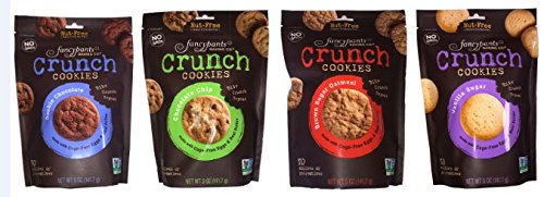 Chocolate Sampler Cookies - Fancypants Baking Company mini Crunch Cookies Sampler (Pack of 4)