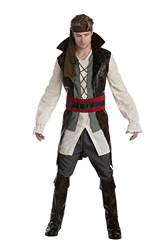 [Palamon Men's Pirate Costume, Brown, Medium] (Pirate Costumes Boot Covers)