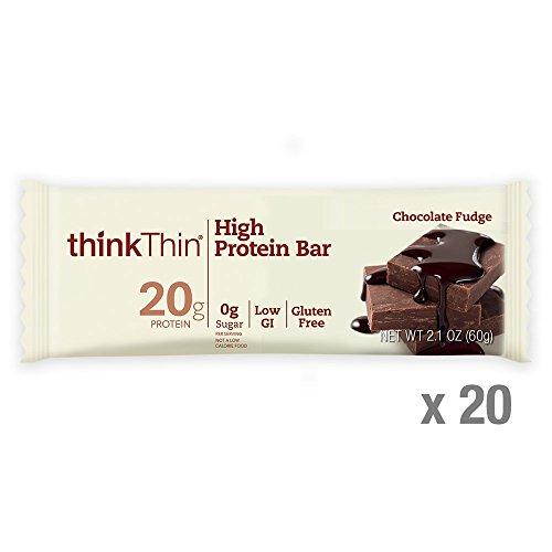 Choc Fudge - thinkThin High Protein Bars, Chocolate Fudge, 2.1 Ounce (20 Count)
