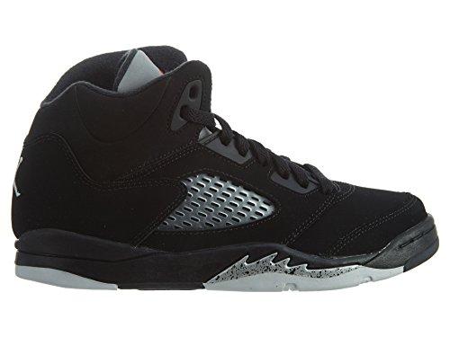 Nike Baby Boys Air Jordan 5 Retro BP OG Metallic Black/Fire Red-Mtllc Silver Suede Size 1Y by Jordan (Image #2)