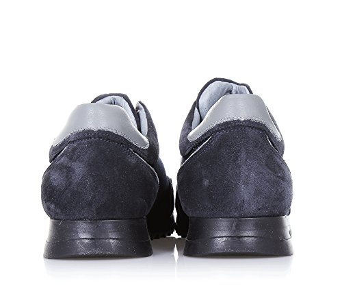 ALBERTO GUARDIANI -Chaussure à lacets bleue, en suède et tissu, caractérisée par des détails techniques et dynamiques, garçon, garçons