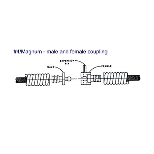 Spartan Tool .66 x 50' Magnum Drain Snake Cable for 1065 and 2001 Drain Cleaning Machines 44053502