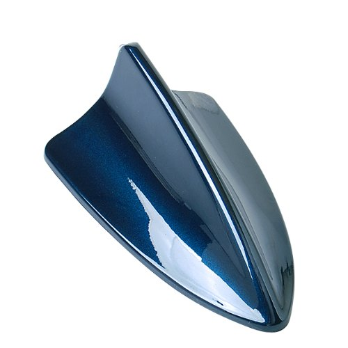Blue Shark Fin Style Roof Mount Aerial Antenna Base Mast Deco Universial Fit Brand New