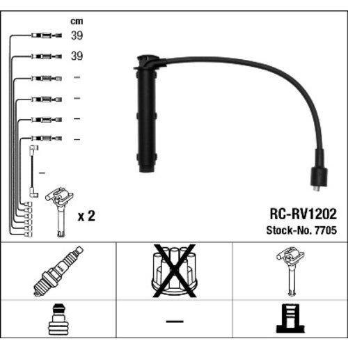 NGK 7705 Ignition Cable Set