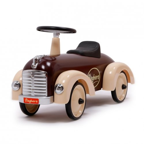 Retro Rutschauto - Oldtimer Bobby-Car - Baghera Speedster-Rutscher chocolate
