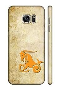 AMAN Horse Clip Art 3D Back Cover for Samsung Galaxy S7 Edge