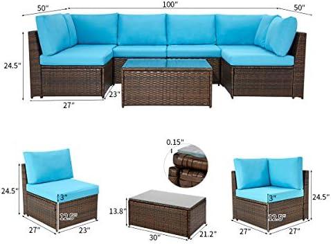 U-MAX 7 Pieces Patio Furniture Set
