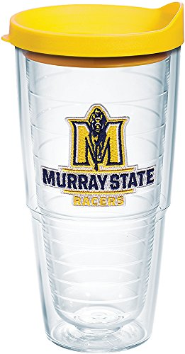(Tervis 1182833 Murray State Racers Logo Tumbler with Emblem and Yellow Lid 24oz, Clear)