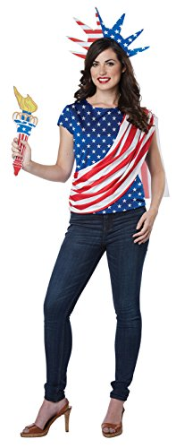 California Costumes Women's Miss Independence Adult Woman Costume, Red/Blue/White, Extra (Adult Miss Independence Costumes)