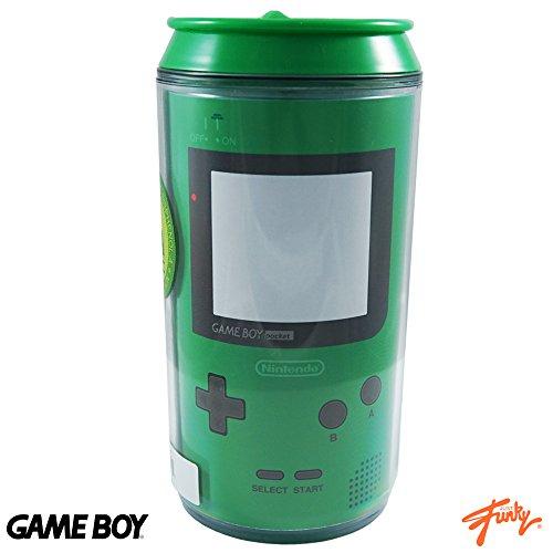Flare Cooler Glass (16oz Nintendo OFFICIAL Retro Green Game Boy Color PREMIUM Travel Can GIFT)