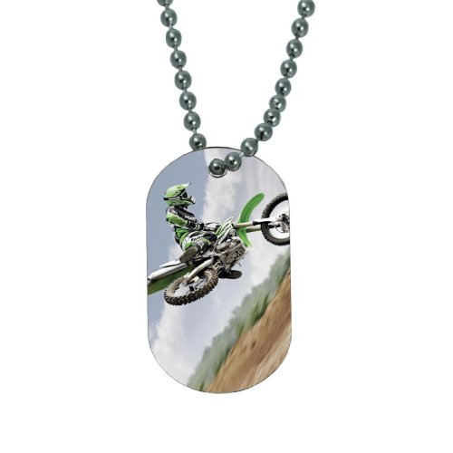Dirtbike Motocross - Dog Tag Necklace