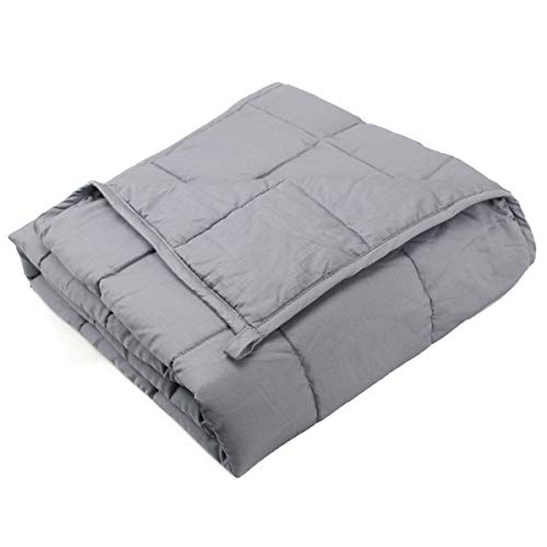 Cheap Dreambeauty Weighted Blanket (60 x80 20lbs for 170-230lb Individual Grey) 100% Premium Cotton with Glass Beads Better Sleep for People Premium Weighted Blanket Black Friday & Cyber Monday 2019