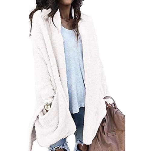 Otoño Mujer Mujer Ashop Talla Abrigo Grande Invierno Blanco Chaquetas Chaqueta De Ropa Lana Capa fUSxwq68