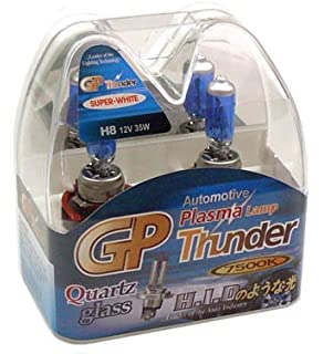 GP Thunder 7500K H8 35W Super-White with Quartz Glass Bulbs for Fog Lights,