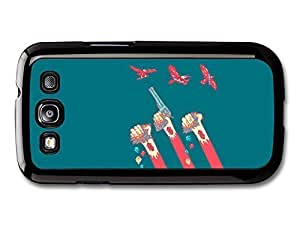 AMAF ? Accessories Foster The People Pseudologia Fantastica Arms with Guns and Birds Illustration case for Samsung Galaxy S3