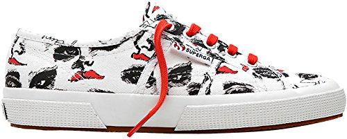 blk 2750 Superga Cotu White red Donna Face Sneaker Fantasy nFSqxgwCS1