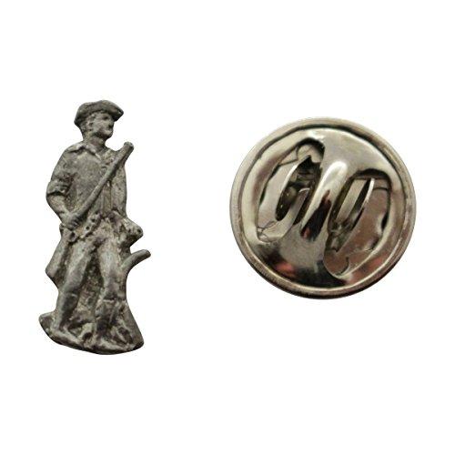 Minuteman Mini Pin ~ Antiqued Pewter ~ Miniature Lapel Pin ~ Sarah's Treats & Treasures Minuteman Cast