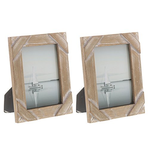 """Barnyard Designs Rustic Farmhouse Distressed Picture Frame 5"""" x 7″ Wood Photo Frame (2-Pack)"""