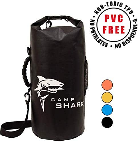 REVALCAMP Dry Bag 5L / 20L - No Cancer Causing PVC - Next Generation TPU Waterproof Dry Bags - No Foul Odor, Better Elasticy & Longer Lifespan - Designed for The Modern Adventurer by Campshark