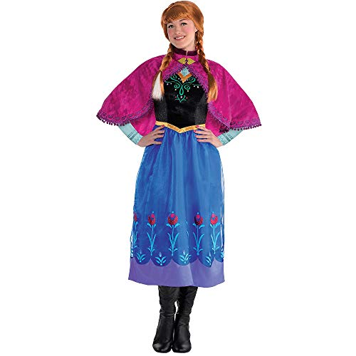 Costumes USA Frozen Anna Costume for Adults, Size Small, Includes Her Classic Dress and a Matching Cape and Cape Clasp ()