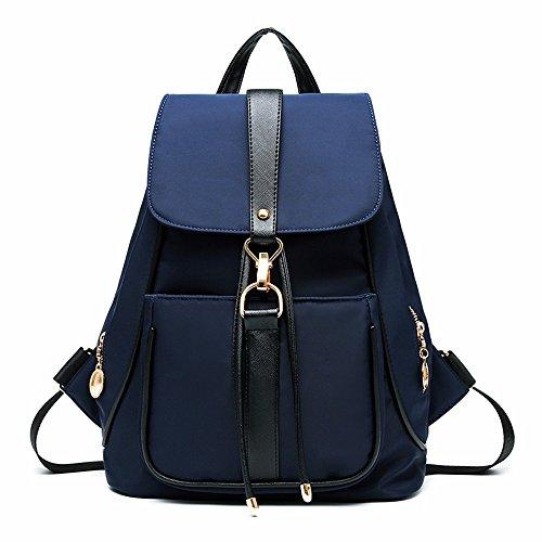 GQFGYYL Oxford Tela de Nylon de Doble Señoras Bolsa Mochila Bolsa de Lona,Black Azul