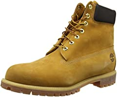 Timberland Men's Icon 6-Inch Premium Fashion Boots, Wheat, 9 M US