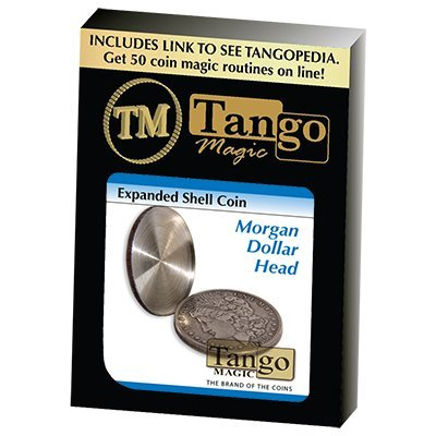 Expanded Shell Coin - Morgan Dollar (D0008)(Head) by Tango - Trick by Tango Magic (Image #1)