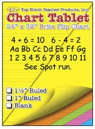 * CHART TABLETS 24X32 ASSORTED RULED by MotivationUSA