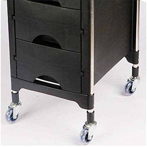 Beauty Storage Trolley Hairdresser Maintenance Carts Hairdressing Multi-Layer Drawer Tool Car Hair Salon Multi-Function Perm Hair Dyeing Equipment Cart Black by Beauty Storage Trolley (Image #6)