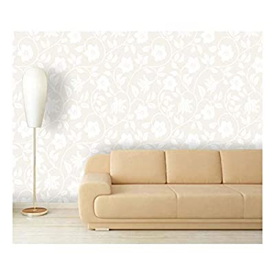 Majestic Work of Art, That You Will Love, Large Wall Mural Seamless Floral Pattern Vinyl Wallpaper Removable Decorating