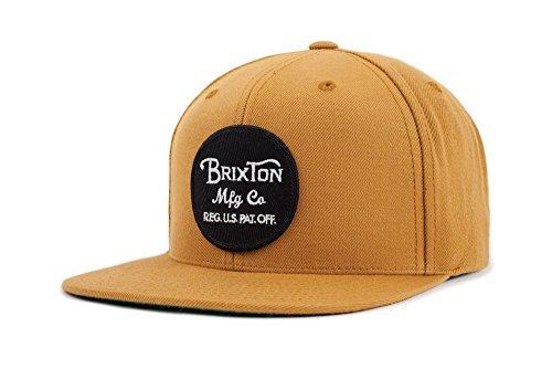 Brixton Men's Wheeler Medium Profile Adjustable Snapback Hat, copper, One - Street Stores Newbury