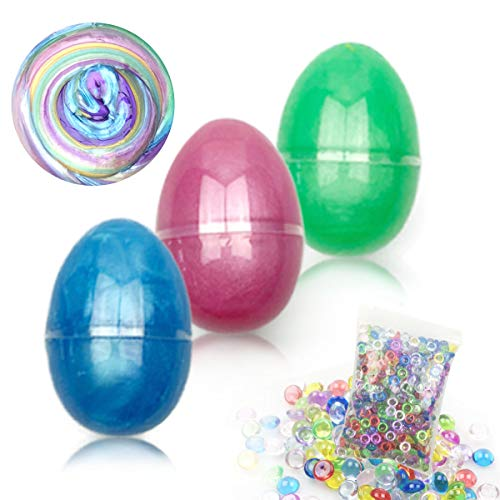 - Anditoy Slime Putty, 3 Colors Slime in Easter Eggs with 1 Pack Fishbowl Beads Slime Supplies for Kids Boys Girls Easter Basket Stuffers Fillers